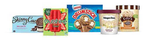 Selection of Froneri Ice Creams